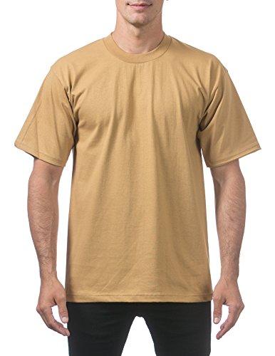 Pro Club Men's Heavyweight Cotton Short Sleeve Crew Neck T-Shirt, Mustard, X-Large
