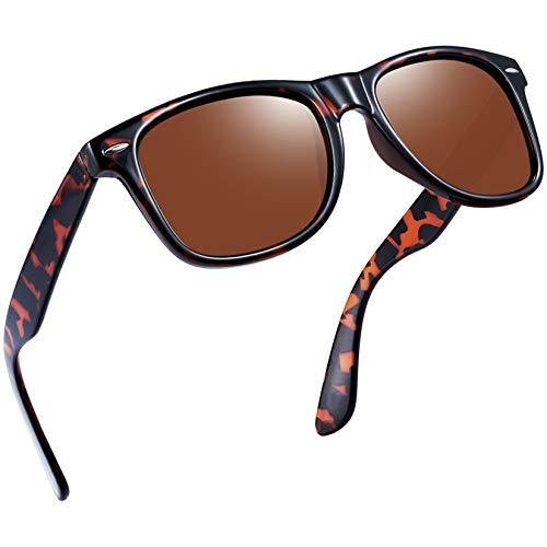 Joopin Gafas de Sol Polarizadas Hombre Retro Clásico Gafas Protección UV400 Vintage Original Mujer 100% Colección de Diseñador Leopardo