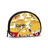 Hamburger patatine fritte portamonete piccola cerniera portafoglio borsa cambiamento sacchetto cosmetici trucco organizzatore sacchetti multiuso