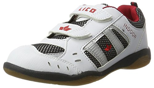 Lico Indoor V Unisex Kinder Multisport Indoor Schuhe, Weiß/ Marine/ Rot, 27 EU