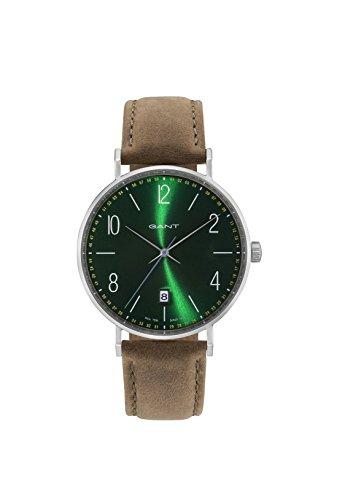 GANT Herren Analog Quarz Uhr mit Leder Armband GT034004
