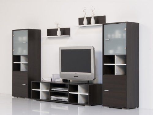 Dreams4Home Wohnwand Wenge - Weiß - Top Design und Optik