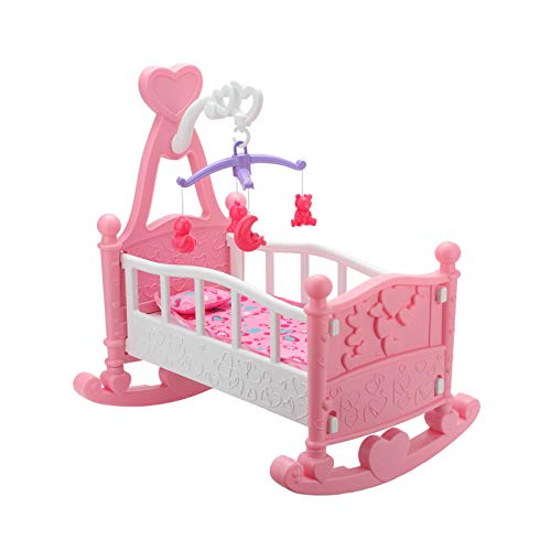 Queiting Creative Baby Gift Creative Pink Doll Cradle Crib Crib Crib Girl Toy Cradle Bed Crib