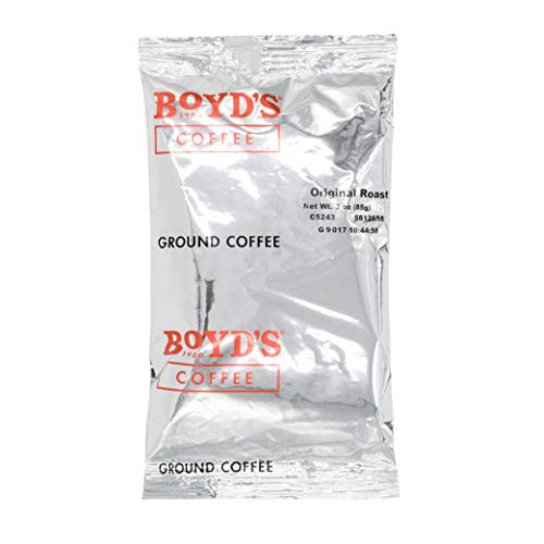 Boyd's Original Roast Coffee - Ground Medium Roast - 3-Oz Portion Packs (Pack Of 40)