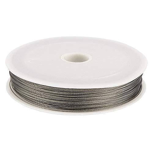 Ideen mit Herz Schmuckdraht | aus Stahl | silberfarben | 100 m (Ø 0,45 mm)