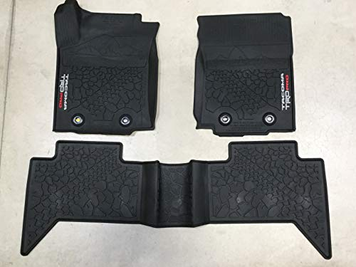 TOYOTA Genuine Tacoma TRD PRO All Weather Floor Liners/Mats (with Manual Transmission) PT908-35201-02