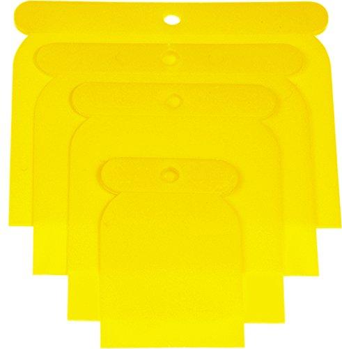 Haromac 38304004 Kunststoffpachtel-Satz 4-teilig, 50-75-100-120 mm, Kunststoff, flexibel und säurefest