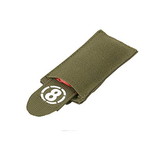 8 FIELDS Airsoft Dead Red Rag Pouch Symbole Boisson - Olive