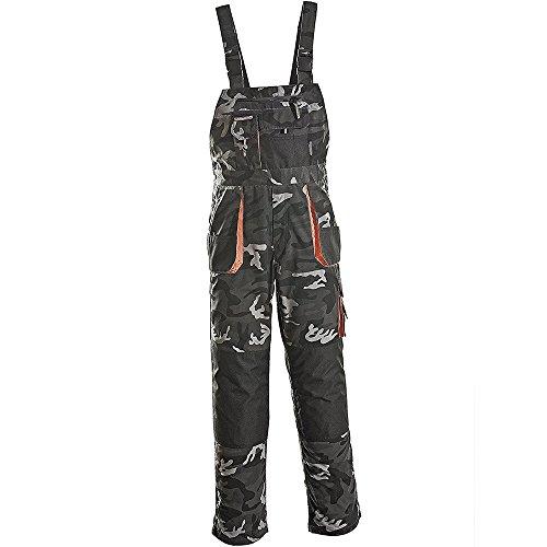 Terratrend Job 3229–60–6210Größe 60Herren Latzhose–Camouflage/grau/schwarz