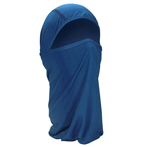 Zan Headgear Microlux Convertible Balaclava, One Size Fits Most, Blue