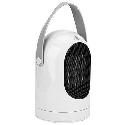 Calentador de Ventilador Eléctrico, Calentador de Cerámica Portátil de 600W, Casa Rotación de 180° Calentamiento Rápido Calentadores Portátiles Silenciosos para Baño/Dormitorio/Oficina(NOS)