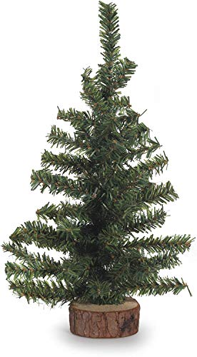 Darice Canadian Pine Tree with Wood Base: 60 Tips, 12 inches, 12'