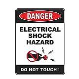 WZJH 12. 5CMX16.8CM Peligro de Descarga eléctrica Reflexivo No Toque Pegatina de automóvil Advertencia CLORURO DE POLIVINILO Calcomanía