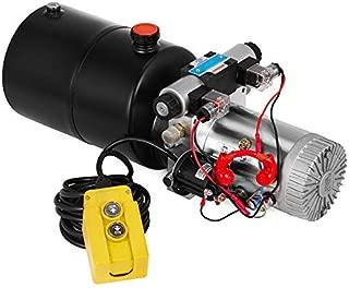 Mophorn 6 Quart Hydraulic Pump Hydraulic Power Unit (Steel, Round/Double Acting Solenoid)