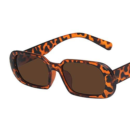 Gafas De Sol Gafas De Sol De Montura Pequeña De Moda para Mujer, Gafas De Sol De Lujo con Lentes De Color Caramelo para Mujer, Gafas De Sol para Mujer C2Leoaprd