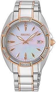 Seiko - Reloj Analógico para Mujer de Cuarzo con Correa en Acero Inoxidable SKK878P1