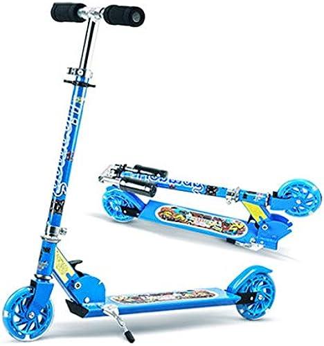 Kinderfürzeuge Blauer Kinderroller Sch r Tretroller Indoor-fürrad für Kinder Kinderpedal-Blitzauto Kindertransport 315-j iger Kinderroller (Farbe   Blau, Größe   96cm13cm103 cm)