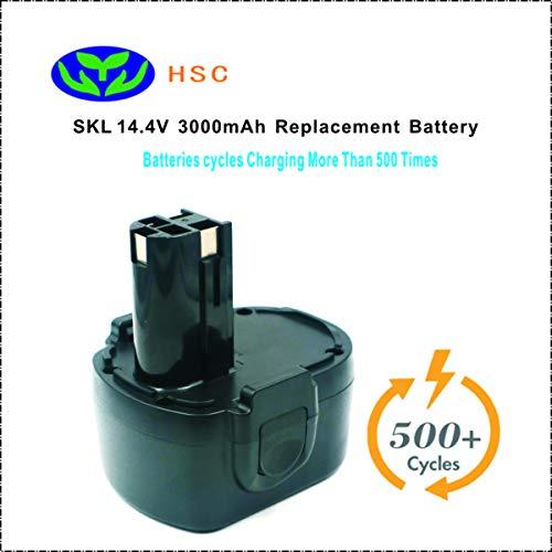 3000mAh portable battery SKL14.4A NiMh Battery 14.4V Replacement for SKIL 14.4V Battery 2607335328 2610908163 92994 144BAT