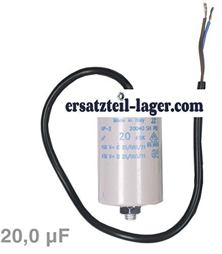 Kondensator 20µF 450V mit Anschlusskabel
