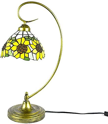 MUZIDP Lámpara de mesa de girasol amarilla Lámpara de escritorio de la lámpara de escritorio de cuello de cisnecador para niños Luces de la noche para la cama de la habitación Dormitorio de la sala de
