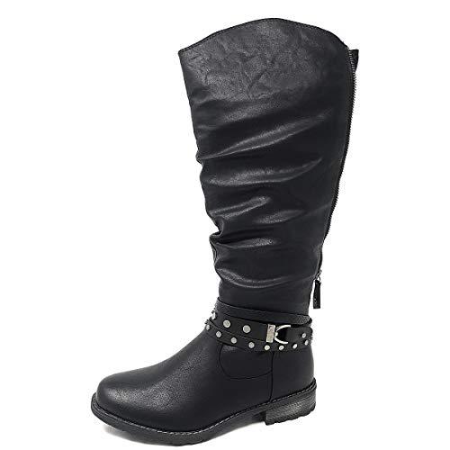 Relife Damen Winter Stiefel mit Reißverschluss und Varioschaft 17804B-21 Schwarz (39 EU)