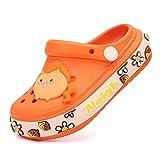 XIANV Kids Classic Clogs Cute Cartoon Graphic Garden Clogs Slip on Water Shoes for Boys Girls (Orange, Numeric_3)