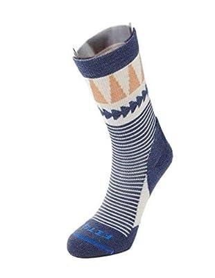 FITS Women's Light Hiker – Crew: Outdoor Socks, Natural, L