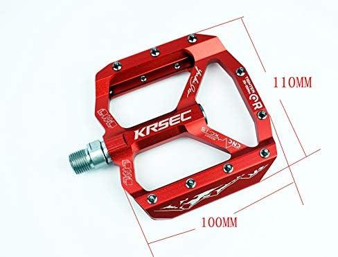 KRSEC Aluminum Mountain Road XC Bike Bearing Pedals flat Bicycle Pedal 11*10cm