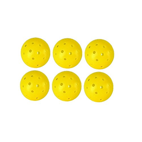Wolfe Approved 40 Hole Yellow Outdoor Pickleballs - 12