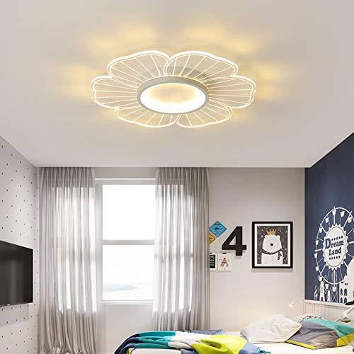 WENY LED Contemporáneo Lámpara De Techo Hazme Habitación Sala Lámpara De Techo Plano Blanco Regulable con Control Remoto Lámpara De Techo Candelabros,52cm