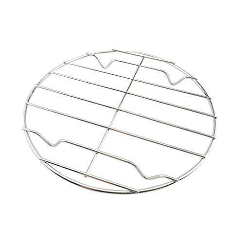 UPKOCH Grillrost tragbares Mini-Rundnetz Grillrost aus rostfreiem Stahl Backrost für Fischfleisch Gemüsesilber