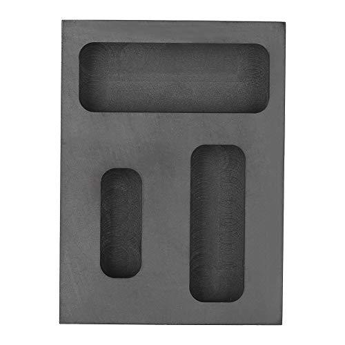 Grafiet-smeltvorm, grafiet, gietijzeren vorm van metaal, barrièrevorm om te verfijnen, smelten voor goud zilver aluminium, grafiet-tegel barrenbrander smelten gieten raffineren schroot bar combo vorm
