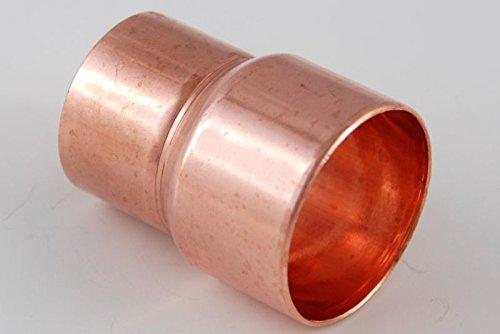 Reduzier-Muffe 35-28 mm / 5240 i/i Kupferfitting Kupfer Fitting Lötfitting CU, 2 Stück,copper fitting, zum Löten, Rohrverbinder