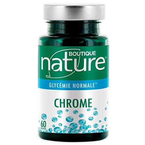 Boutique Nature - Complément Alimentaire - Chrome - 60 Gélules Végétales - Réguler le taux de sucre