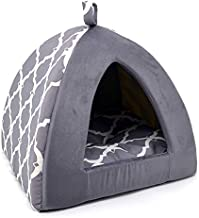 Pet Tent-Soft Bed for Dog and Cat by Best Pet Supplies - Gray Lattice, 16