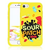 STSNano Case for iPhone SE 2020/8/7/6/6S 4.7',Cute Kawaii Cartoon Design Soft Silicone Fun Cover, Character Unique Aesthetic for Girls Boys Teens Funny Cases for iPhone SE 2020 Sour Candy