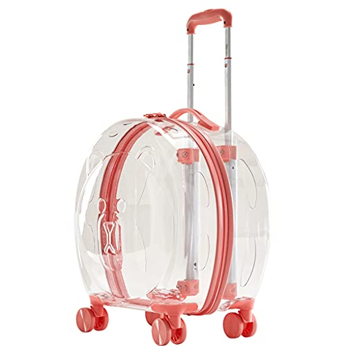 LSJQ Trolley Transparente para Mascotas de Gran Capacidad, Impermeable y Transpirable, Mochila rígida para Mascotas, Bolsa para Gatos, Transporte para Perros