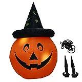 knowledgi Calabaza inflable para Halloween, decoración de muñeca iluminada impermeable para interior y exterior.