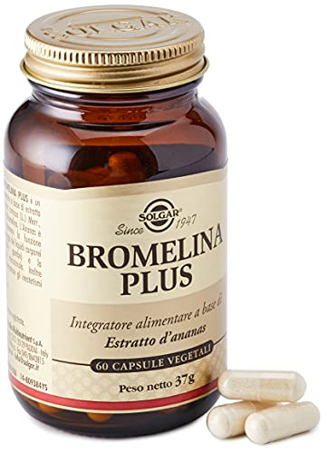 Solgar Bromelina Plus, 37 gr, 60 capsule