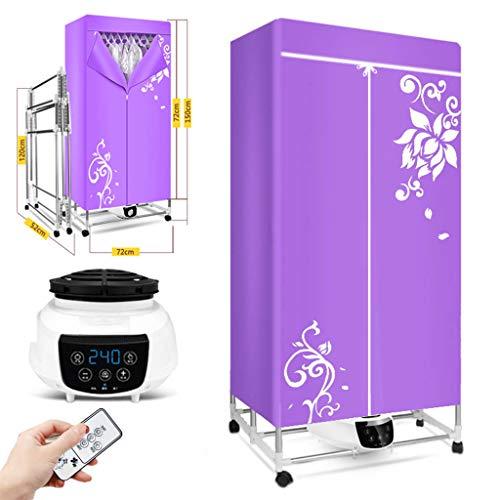 FXYY Wäschetrockner Tragbarer Wäscheständer Für Wäsche 1200W - Energiesparender (Anion) Falttrockner Schnelltrocknender Und Effizienter Digitaler Automatischer Timer Mit Fernbedienung Für Wohnhäuser