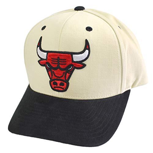Mitchell & Ness NBA Pro Crown - Gorra, diseño de Chicago Bulls, color blanco y negro