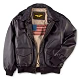 Landing Leathers Men's Air Force A-2 Leather Flight Bomber Jacket Brown Large