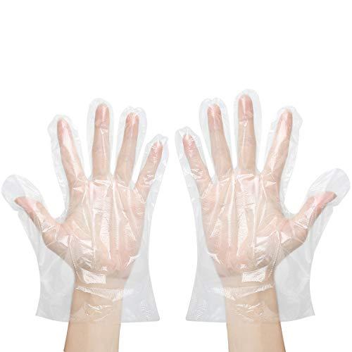 ZCXG 400pcs Einweghandschuhe für Haus Küche Kunststoff-Handschuhe Garten Multifunction Restaurant Küchenzubehör Handschuhe,Transparent