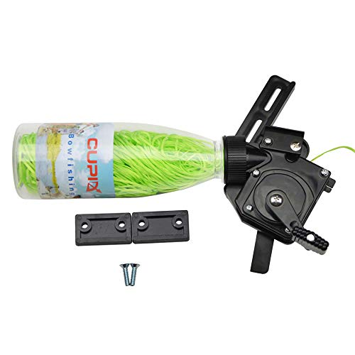 SHARROW Tiro con Arco Bowfishing Reel Carrete de Pesca con Arco Spincast Reel Gear con 40m Cuerda para Arco Recurvo Compuesto Peces