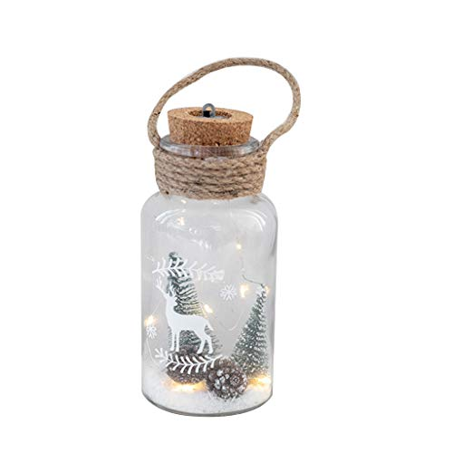 angwang Christmas Glass Bottle Night Light,Waterproof Fairy String Lights Firefly Starry Lights for DIY Wedding Party Crafts Christmas Decoration,Warm White 1#