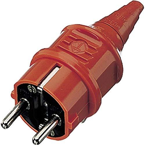 Mennekes 10837Typ F schwarz, rot Elektrischer–Stecker (16A)