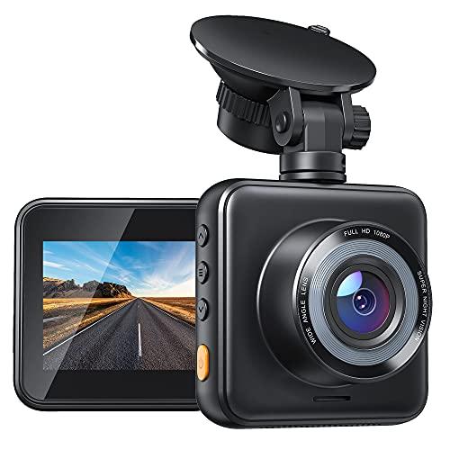 Mini Dashcam Auto 1080P Full HD Autokamera mit Kompakte Design, Nachtsicht, WDR, Loop-Aufnahme, G-Sensor, 170° Weitwinkel, Parküberwachung und Bewegungserkennung