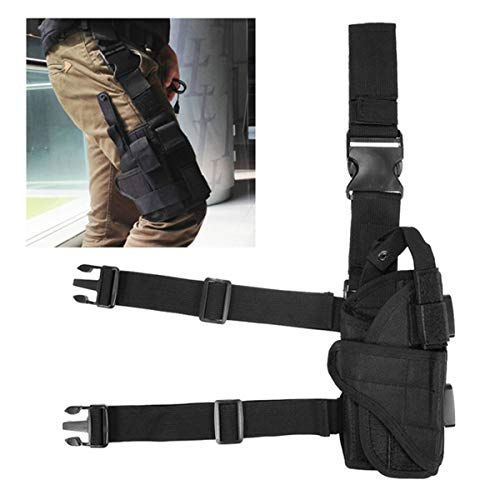 Winwinfly Ajustable Tactique puttee Cuisse Jambe Shoulder Pistolet Holster Bag Chasse extérieure Accessoires (Style 2)