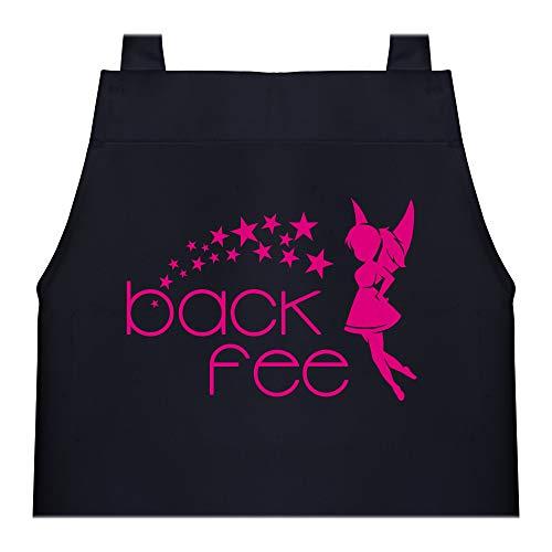 Shirtracer Kinderschürze mit Motiv - Back Fee Sterne - 60 cm x 50 cm (H x B) - Schwarz - kinderschürze mädchen 10 jahre - X978 - Kochschürze und Schürze für Kinder