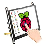 ELECROW 5 Inch Raspberry Pi Monitor Touchscreen Capacitive IPS Display 800x480 USB Powered HDMI Monitor with Built-in Speaker & Stand for Raspberry Pi 4 3 2 Model B Win PC